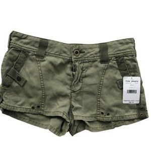 Free People Camo Green Shorts